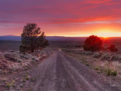Desert Road 4 Print by Leland D Howard