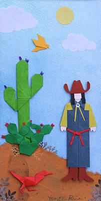 Roadrunner Mixed Media - Desert Roadrunner By Mary Ellen Palmeri by Lyric Artists