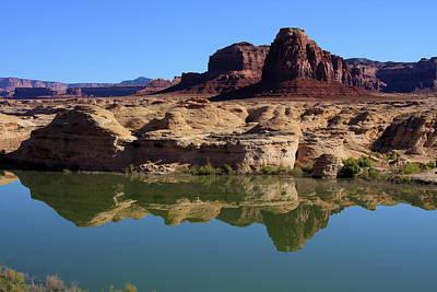 Rimrock Photograph - Desert Rock Reflections by Aidan Moran