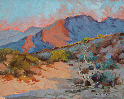 Morning Light Painting - Desert Shadows by Diane McClary