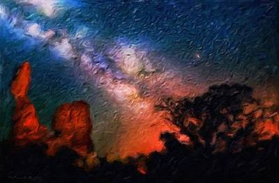 Desert Stars - Abstract Impressionist Painting Print by Katrina Britt