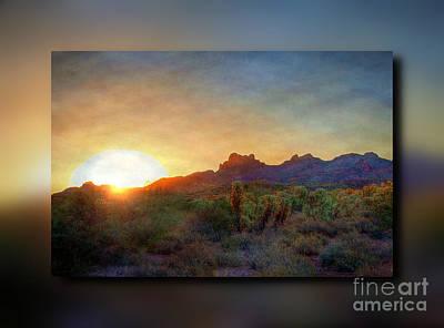 Digital Art - Desert Sunrise by Dan Stone