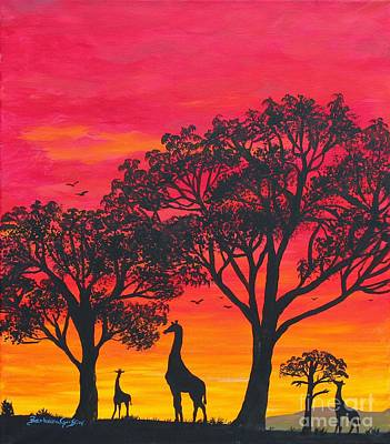Desert Sunset 2 Print by Barbara Griffin