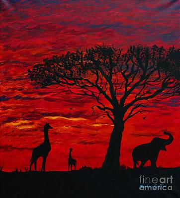 Desert Sunset 3 Print by Barbara Griffin