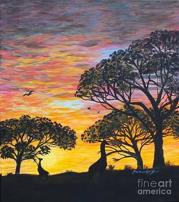 Desert Sunset  Print by Barbara Griffin