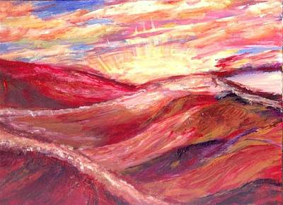 Sunset Painting - Desert Sunset  by Mary Sedici