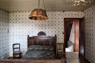 Deserted Bed Room - Urban Decay Print by Dirk Ercken