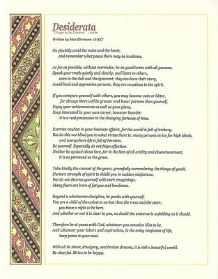 Wisdom Digital Art - Desiderata 1 by Desiderata Gallery
