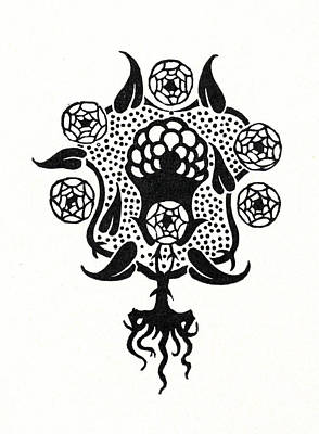 Blooming Drawing - Design For The Front Cover Of Salome by Aubrey Beardsley