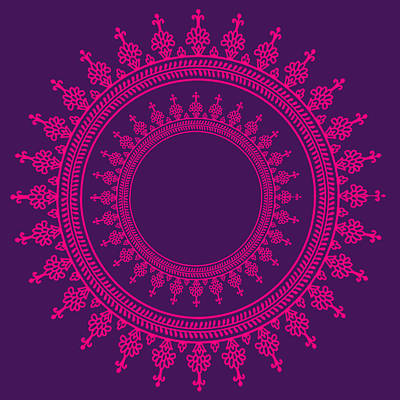 Mandala Digital Art - Design In Pink by Art Spectrum