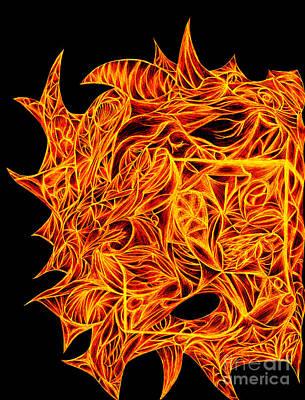 Digital Abstract Drawing - Desire Flair by Jamie Lynn