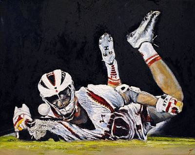 Lacrosse Painting - Desire by Kenneth DelGatto