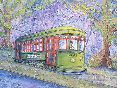 Painting - Desire Street Streetcar by Catherine Wilson