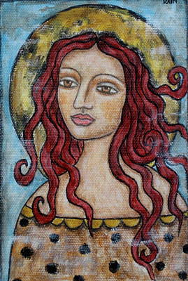 Christian Art . Devotional Art Painting - Desiree by Rain Ririn