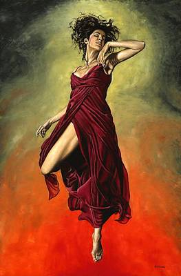 Ballerina Painting - Destiny's Dance by Richard Young