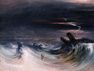 Destruction Of Tyre Print by John Martin