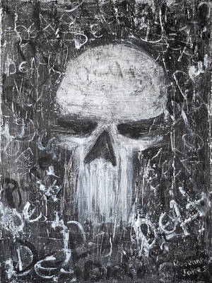 Abuse Painting - Destructive Death by Roseanne Jones