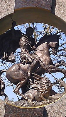 Dragon Photograph - Detail From A Monument by Anamarija Marinovic