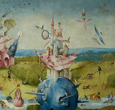 Detail Of Central Panel From  Print by Hieronymus Bosch