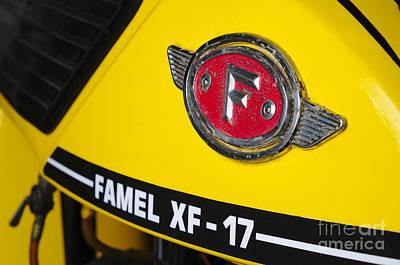 Europe Photograph - Classic Zundapp Bike Xf-17 Gas Tank Logo Detail by Angelo DeVal