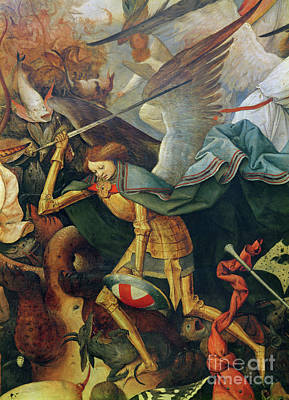 Good Vs. Evil Painting - Detail Of The Fall Of The Rebel Angels, 1562 by Pieter the elder Bruegel