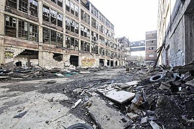 Detroit Abandoned Buildings Print by Joe Gee