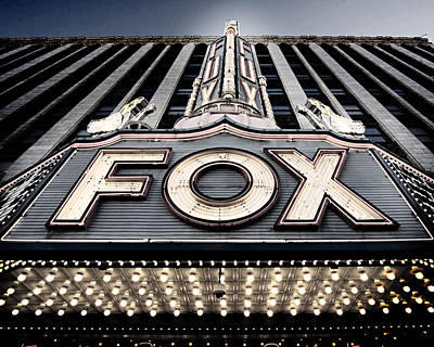 Theater Photograph - Detroit Fox Theatre by Alanna Pfeffer