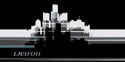 Concept Digital Art - Detroit Lines 1 by Alberto RuiZ