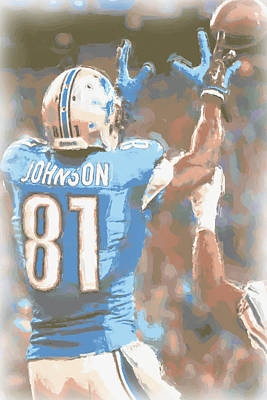 Calvin Photograph - Detroit Lions Calvin Johnson 2 by Joe Hamilton