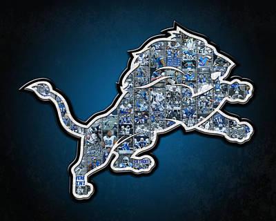 Detroit Lions Print by Fairchild Art Studio