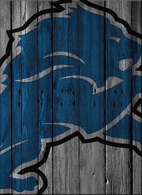 Lion Photograph - Detroit Lions Wood Fence by Joe Hamilton