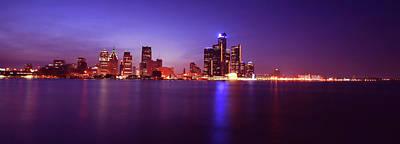 Detroit Skyline 2 Original by Gordon Dean II