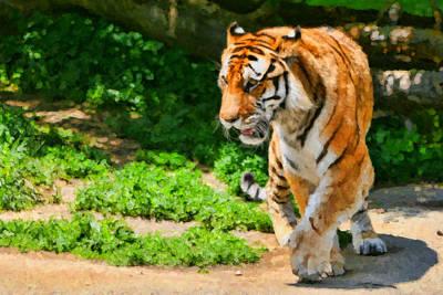 Detroit Tigers Digital Art - Detroit Tiger by Paul Bartoszek