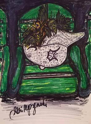 Baseball Parks Drawing - Detroit Tigers Baseball Hat by Geraldine Myszenski