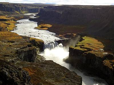 Dettifoss Photograph - Dettifoss Canyon In Iceland by Rory Cummins
