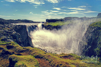 Dettifoss Photograph - Dettifoss Waterfall, Iceland by Patricia Hofmeester
