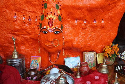 Goddess Durga Photograph - Devi Temple, Nanital by Jennifer Mazzucco