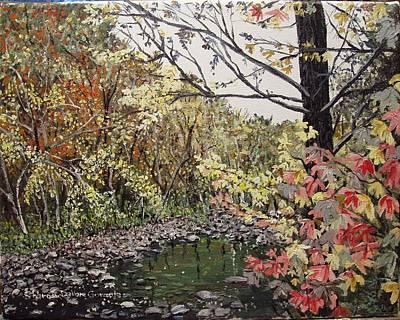 Arkansas Painting - Devil's Den In Fall by Sharon  De Vore