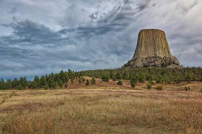Rock Photograph - Devils Tower Expanse by John M Bailey