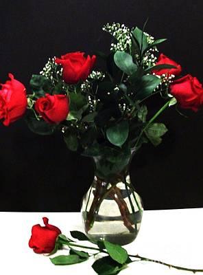 Devine Red Roses Original by Marsha Heiken