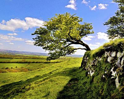 Brentor Digital Art - Devon Countryside by Vicki Lea Eggen