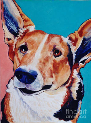 Herding Dog Painting - Devoted Friend by Pat Saunders-White