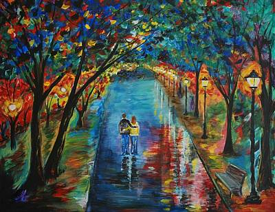 Nightime Painting - Devoted To You by Leslie Allen