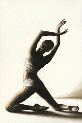 Posing Painting - Devotion To Dance by Richard Young