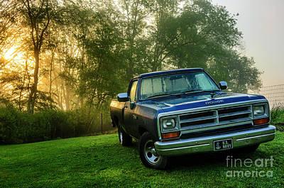 Dew-covered Dodge Ram 100 Print by Thomas R Fletcher