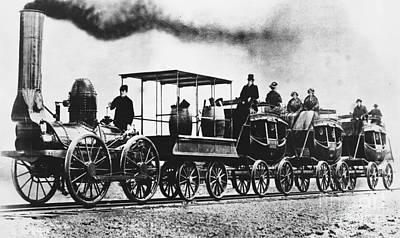Dewitt Clinton Locomotive Print by Omikron