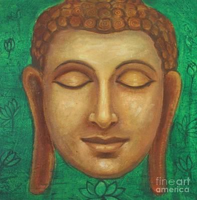 Siddharta Painting - Dhyana Buddha by Nayna Tuli Fineart