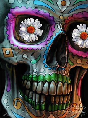 Andre Drawing - Dia De Los Muertos by Andre Koekemoer