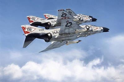 Us Navy Digital Art - Diamonback Echelon by Peter Chilelli