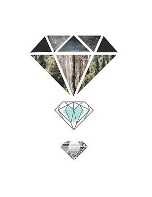 Crystals Painting - Diamond Art Print by Manuela Pugliese